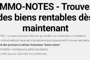 Immo-notes: l'extension Chrome pour investisseurs