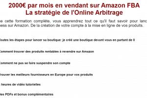 Formation Amazon FBA - Profit Wolf - Arbitrage