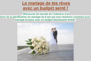 Le mariage de tes rêves avec un budget serré