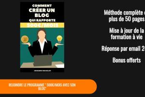 Créer un blog qui rapporte 500€/mois