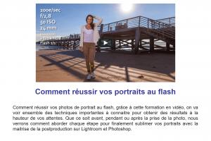 Formation portrait photo au flash