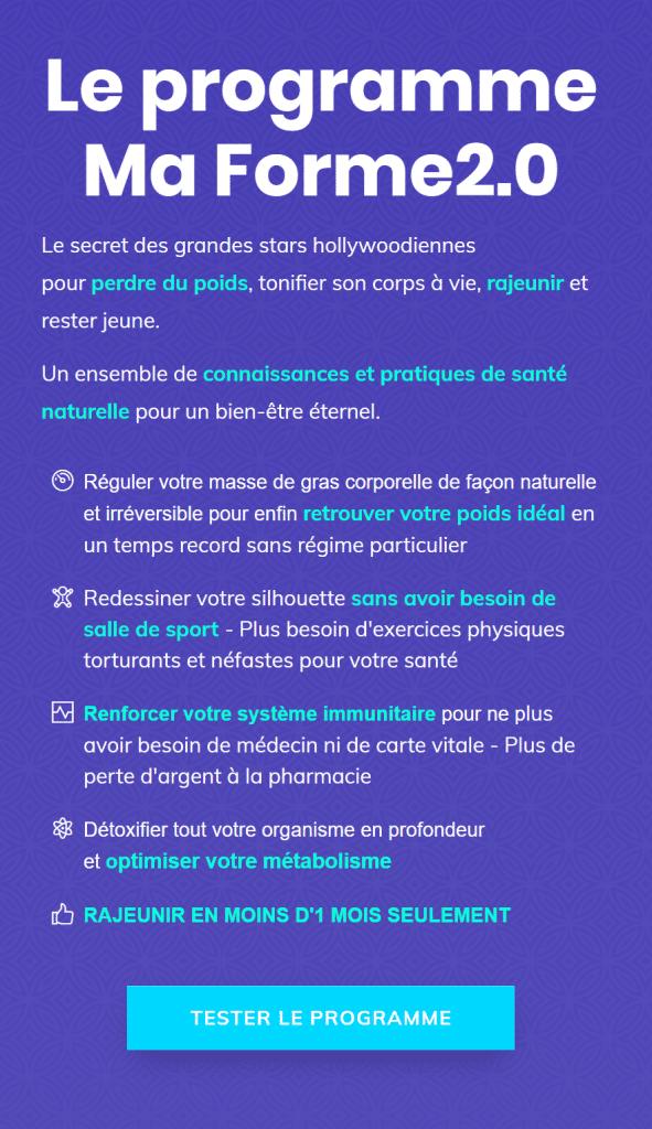 MA FORME 2.0 (EXPLOSER DE VITALITÉ TOUTE SA VIE)