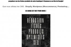 Ebook Rédaction Fiches Produits Optimisées SEO