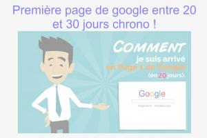 Objectif première page Google en 20 jours chrono