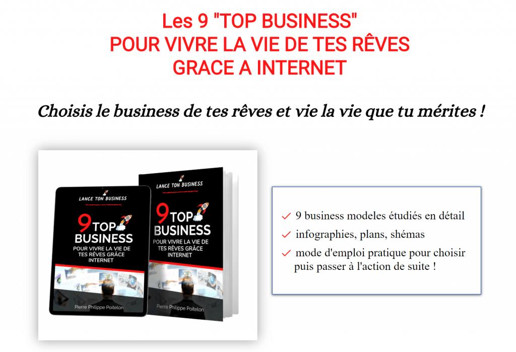 LES 9 TOP BUSINESS POUR VIVRE LA VIE DE TES RÊVES