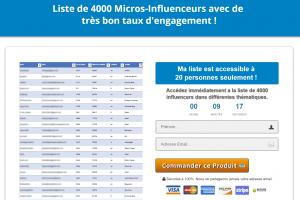 Ma liste de 4000 Influenceurs FR - EN