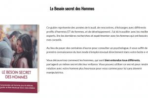 Le Besoin Secret des Hommes