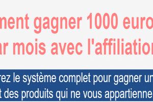 Comment gagner 1000 euros et + par mois