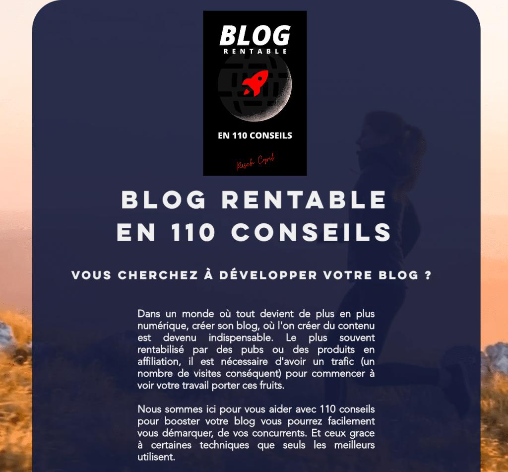 Blog rentable en 110 conseils de pro