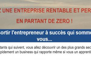 Créez une entreprise rentable