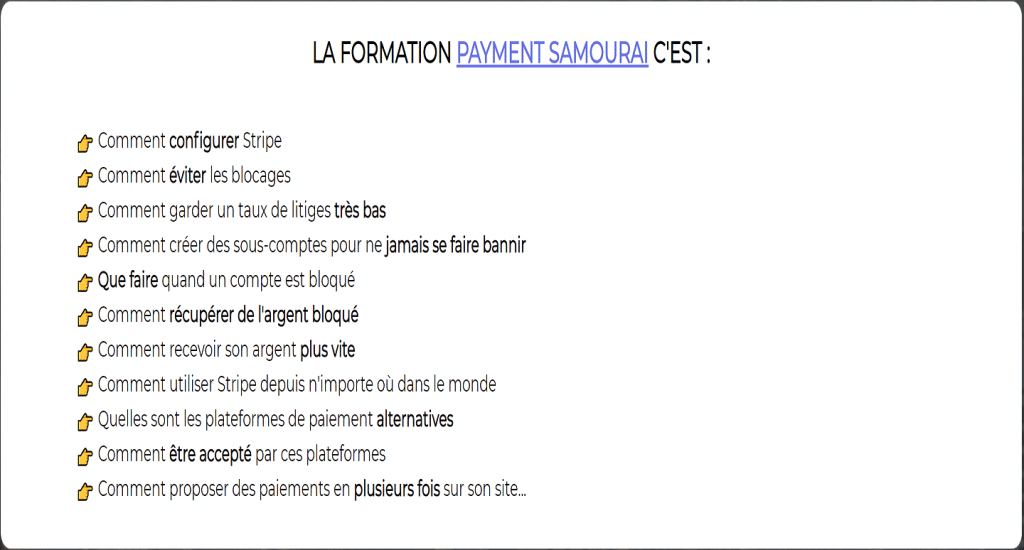 STRIPE La solution au blocages et ban !