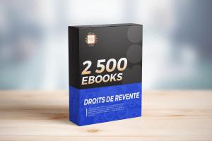 2500 Ebooks en Droit de Revente