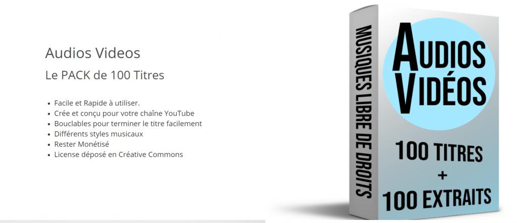 Audios Vidéos (Le pack de plus de 100 musiques)