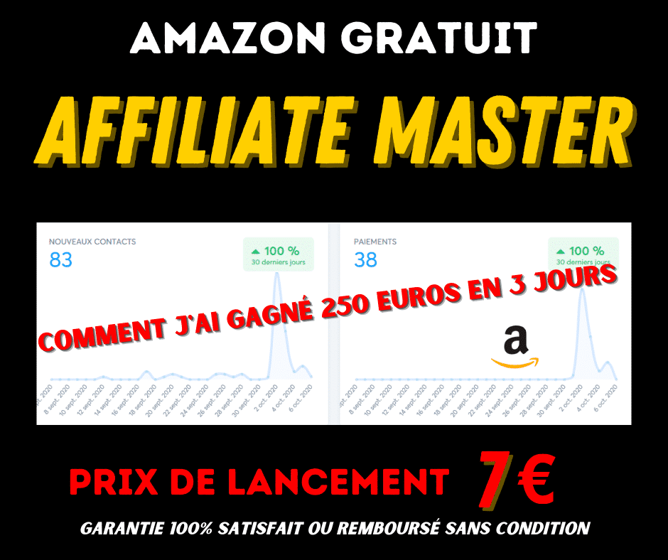 Affiliate Master = Machine à Cash + Amazon gratuit
