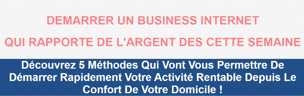 DEMARRER UN BUSINESS INTERNET