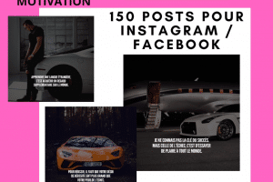 150 Post pour Instagram et Facebook