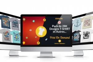 LE TRÉSOR 28K Designs T-shirt pour Print On Demand