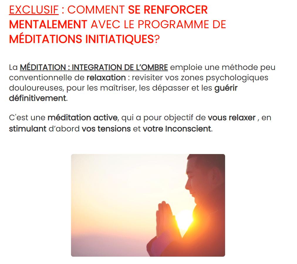 MEDITATION : INTEGRATION DE L'OMBRE