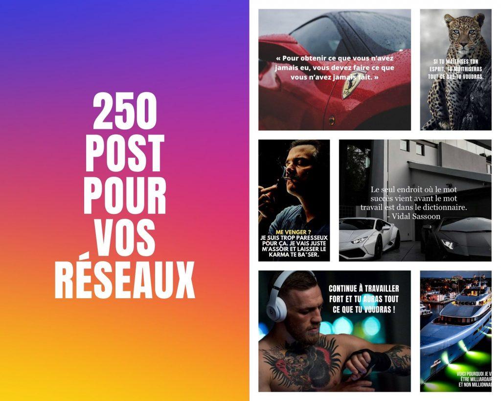 Pack de 250 citation en image pour vos réseaux